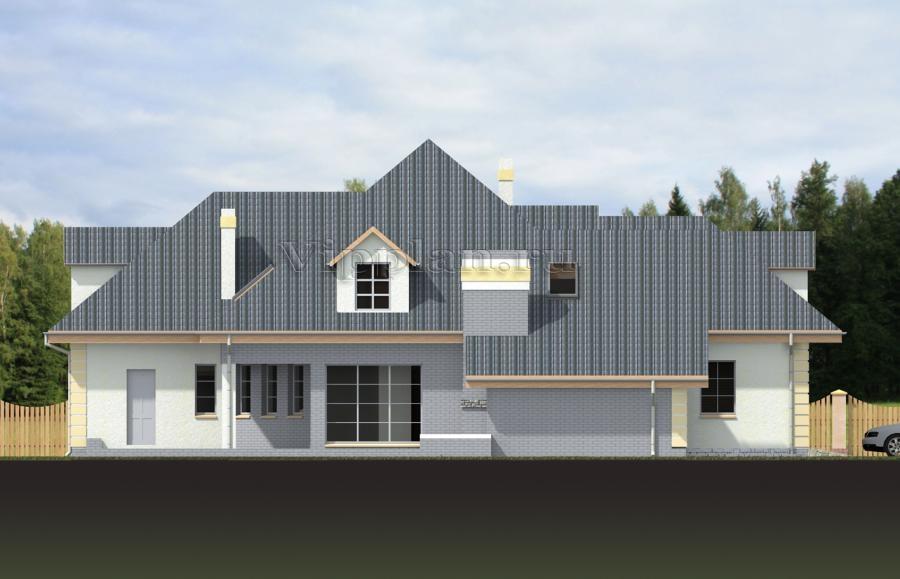 Проект просторного дома из газобетона Vg1344 в Владивостоке